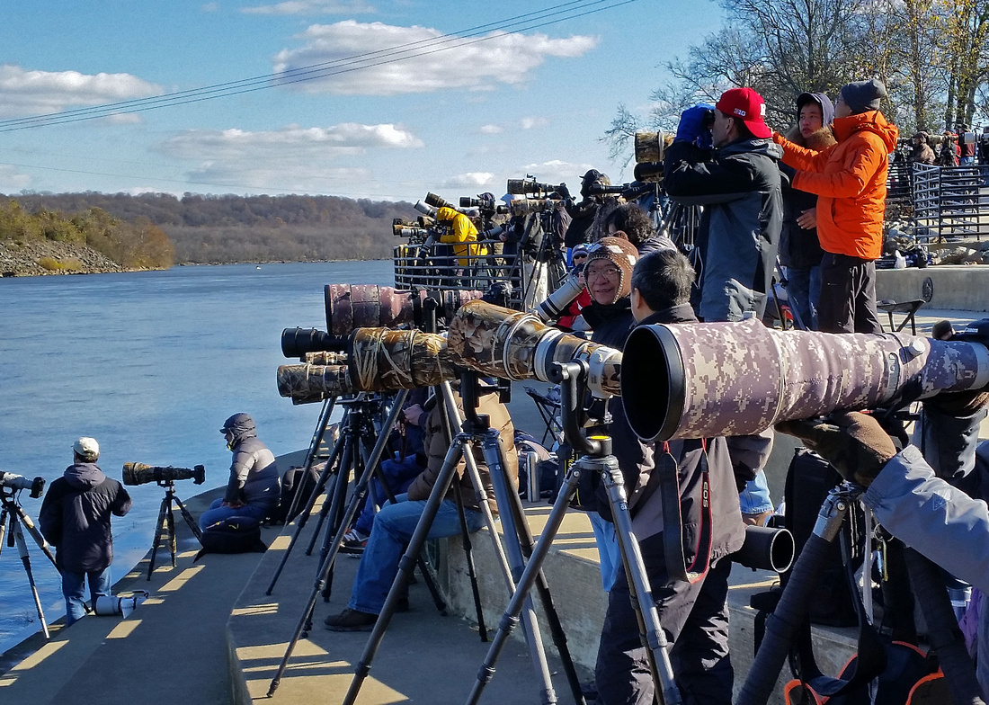Photographers at Conowingo Dam