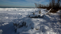 Lake Erie and Ice Dunes on Gull Point Trail