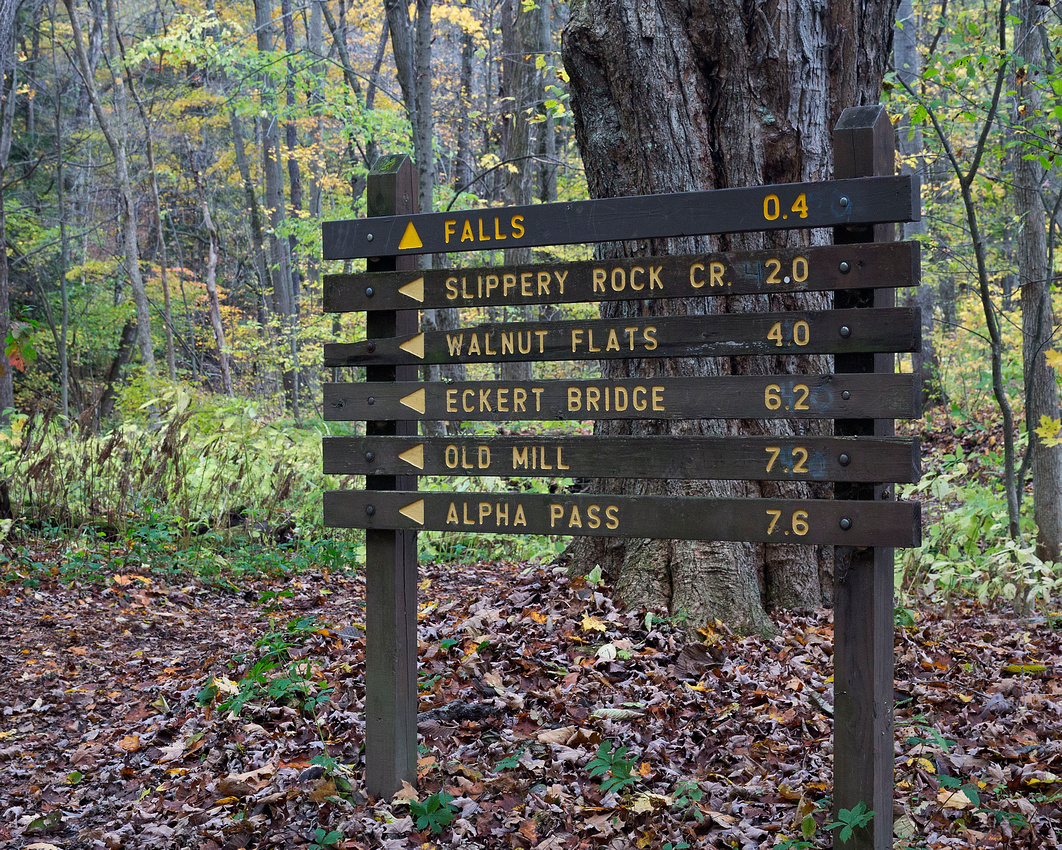 Hells Hollow Directional Sign