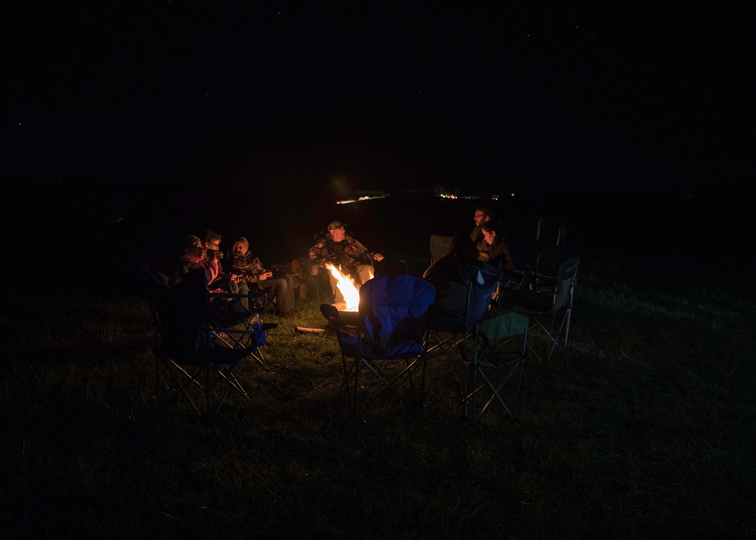 Campfire on Winslow Hill